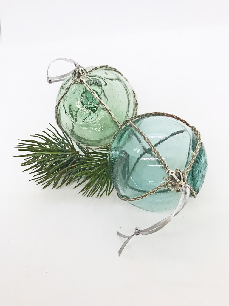 Glass Float Ornaments  - Set of 2