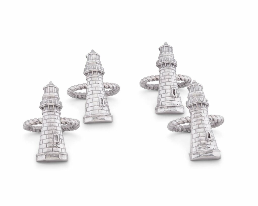 Lighthouse Napkin Rings-Set of 4 | Caron's Beach House
