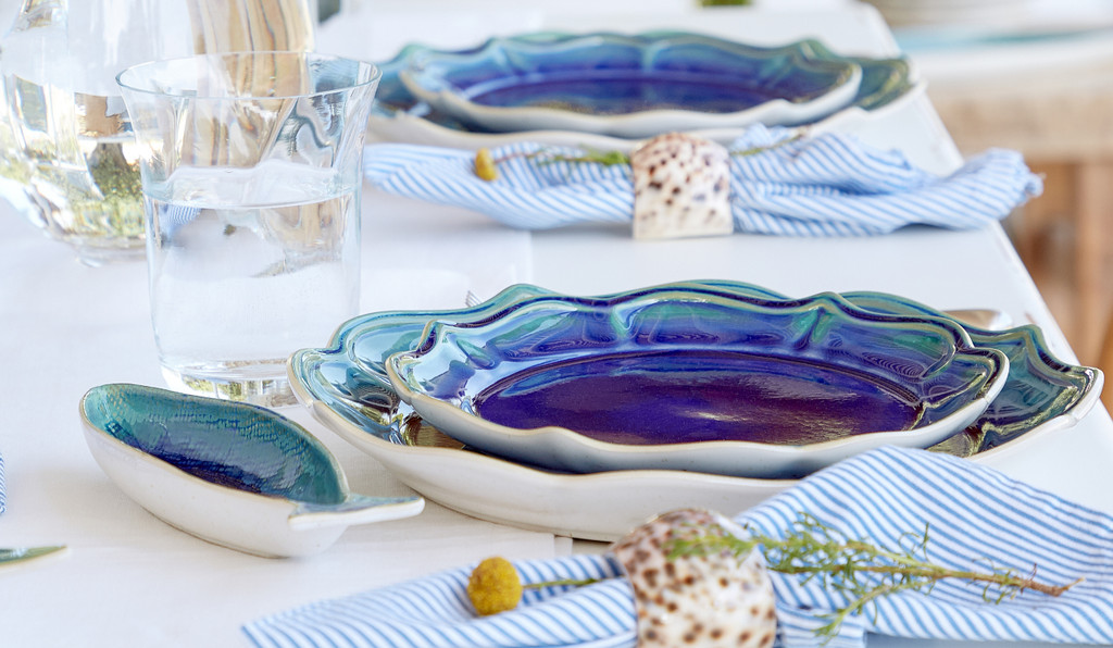 Cavala Small Fish Shaped Platter tablescape