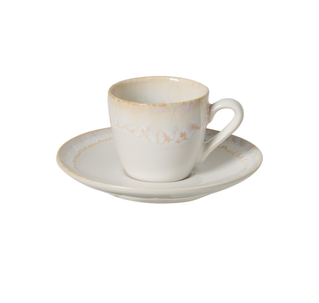Taormina White Coffee Cup and Saucer Sets