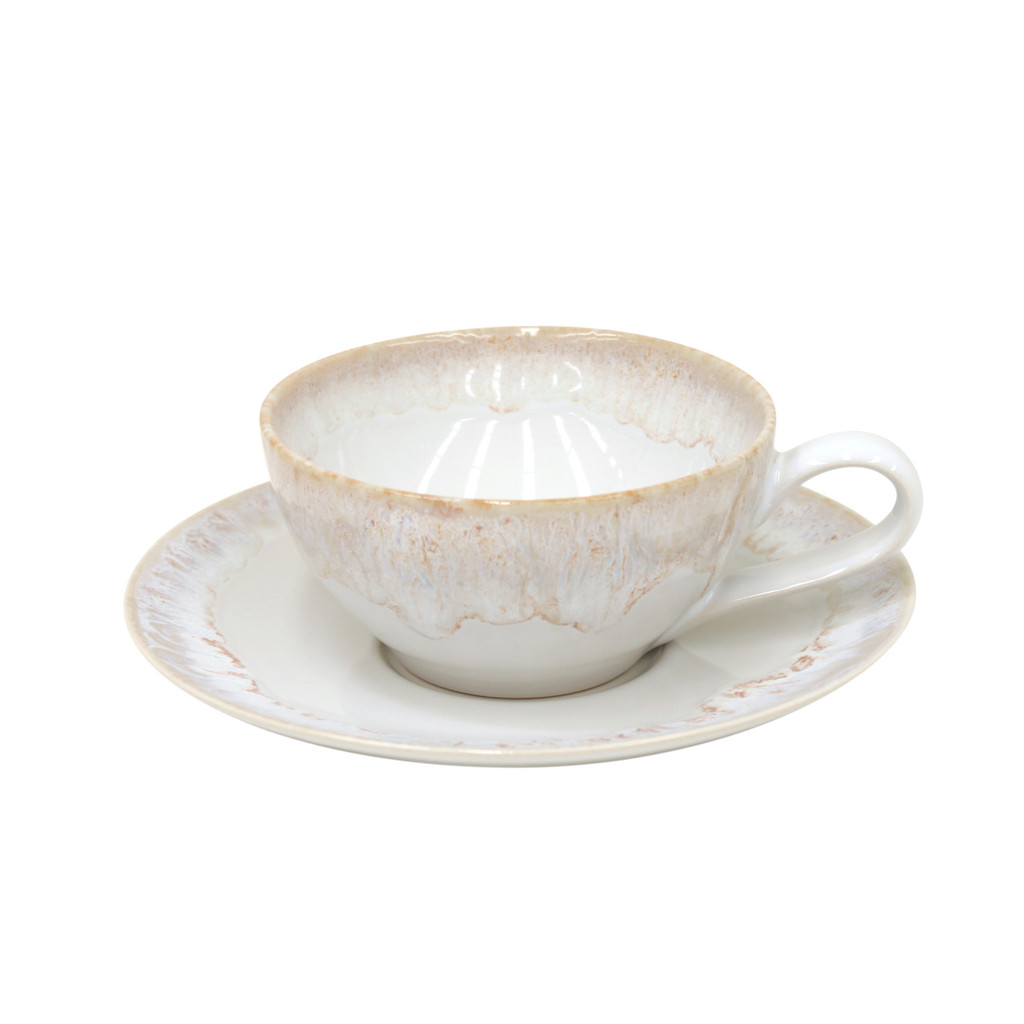 Taormina White Tea Cup and Saucer Sets