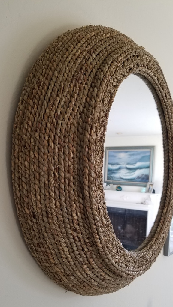 Seagrass Braided Mirror on the wall