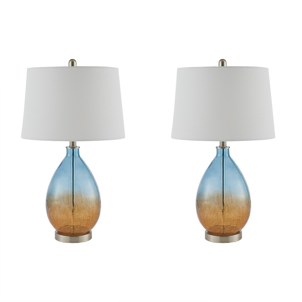 Ocean Sunset Glass Table Lamps - Set of 2