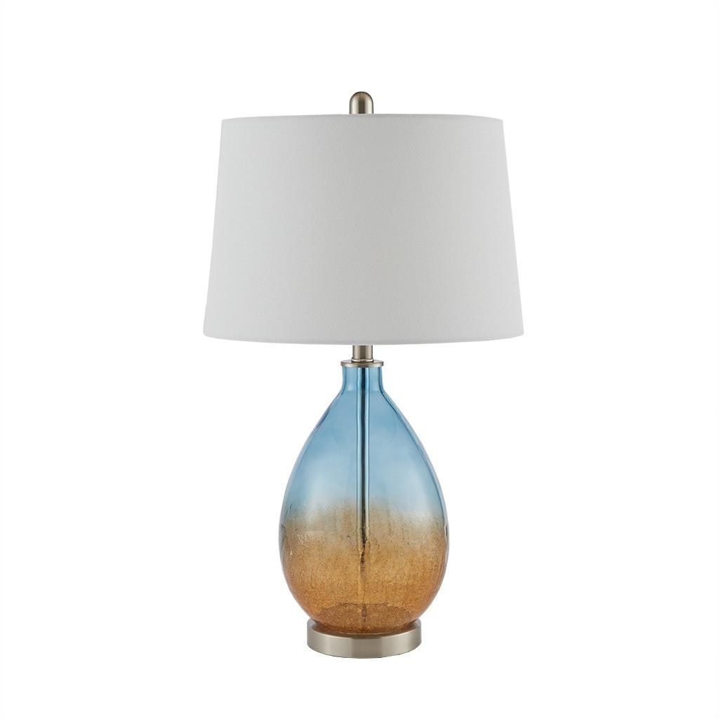 Ocean Sunset Glass Table Lamps - non lit