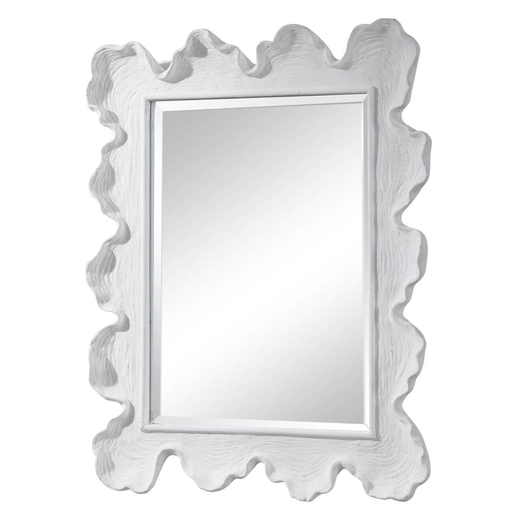 White Sea Coral Coastal Mirror angle