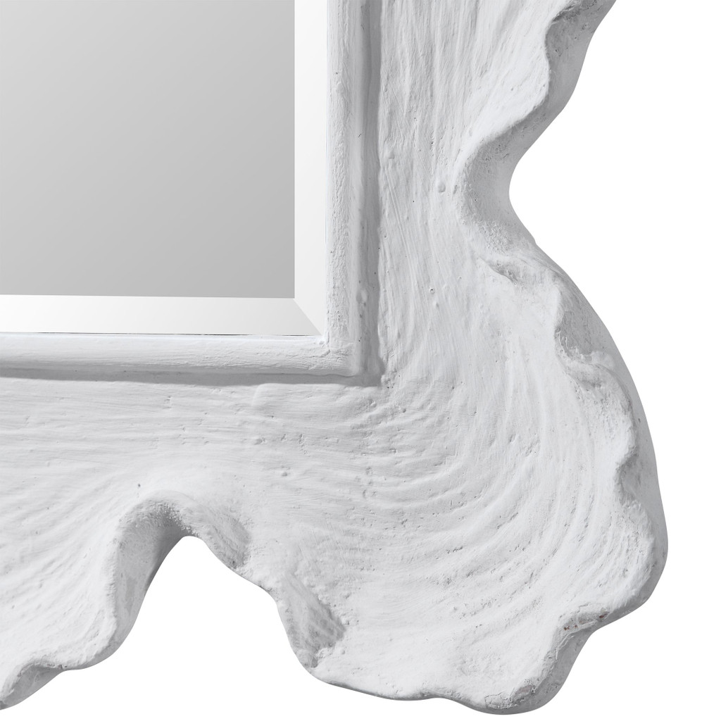 White Sea Coral Coastal Mirror close up frame