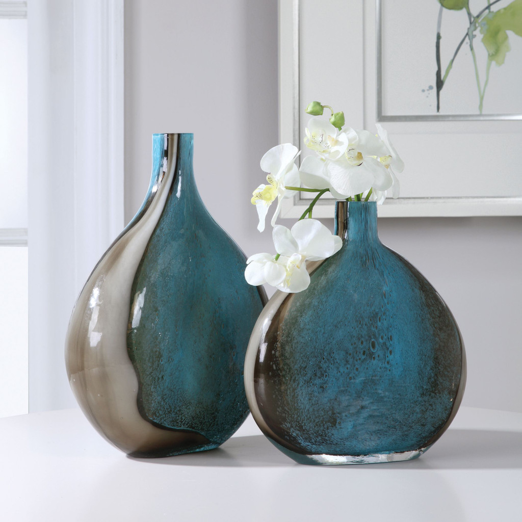 Adriatic Art Glass Vases - Set of Two room view