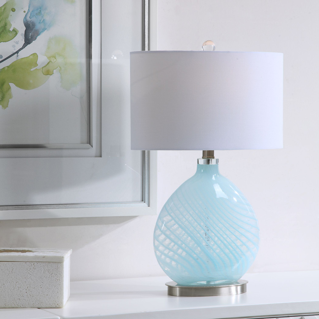 Aquata Glass Table Lamp room view