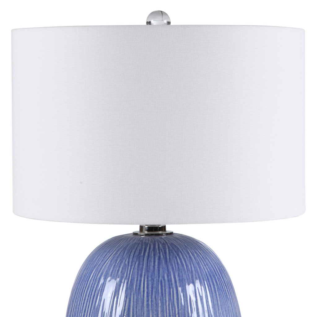 Pacific Blue Table Lamp shade and base view