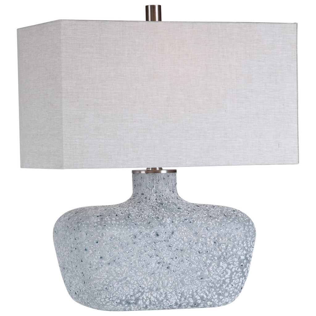 Ocean Textured Glass Table Lamp