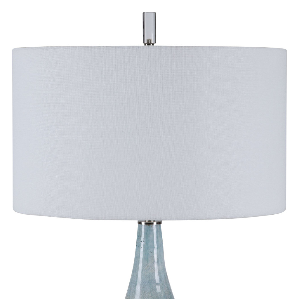 Rialta Tide Coastal Table Lamp top and finial