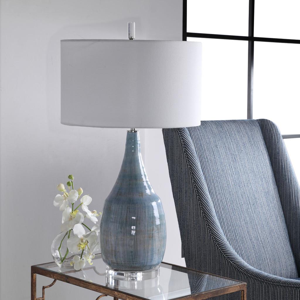 Rialta Tide Coastal Table Lamp light off