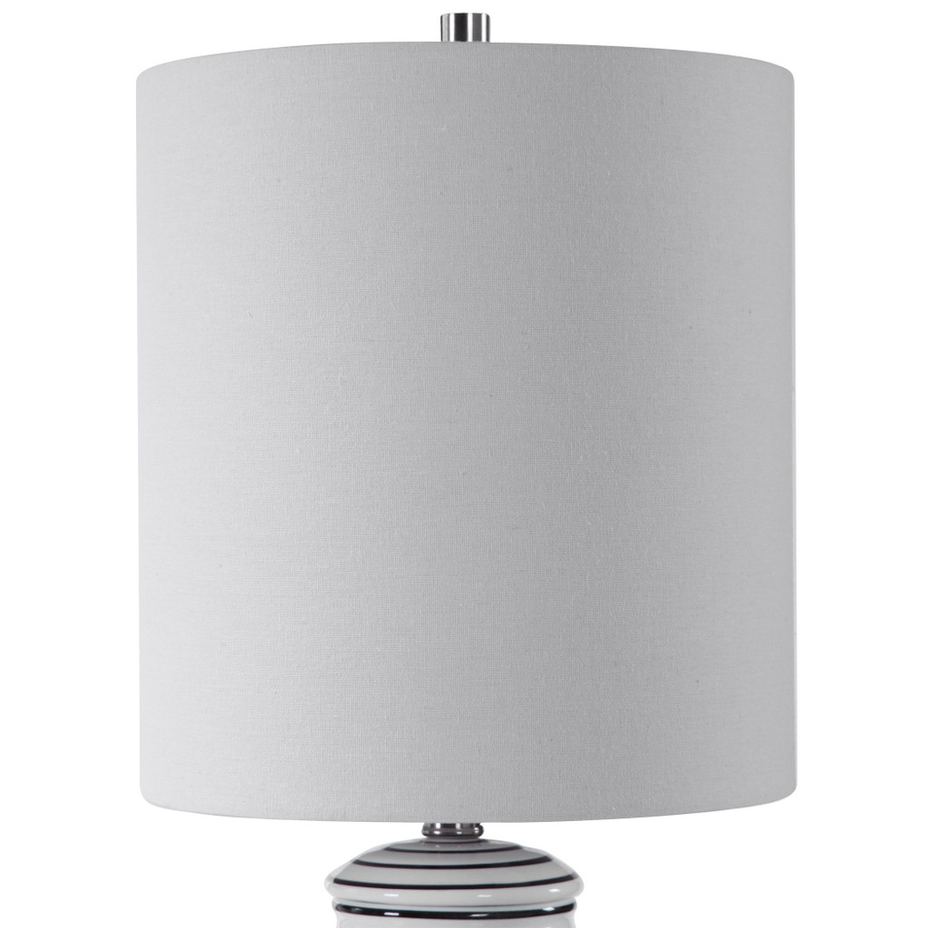 Point Reyes Striped Table Lamp top and shade