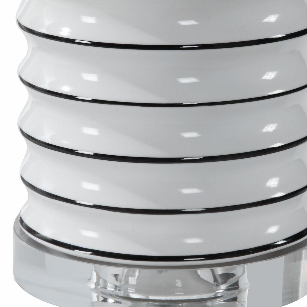 Point Reyes Striped Table Lamp bottom close up
