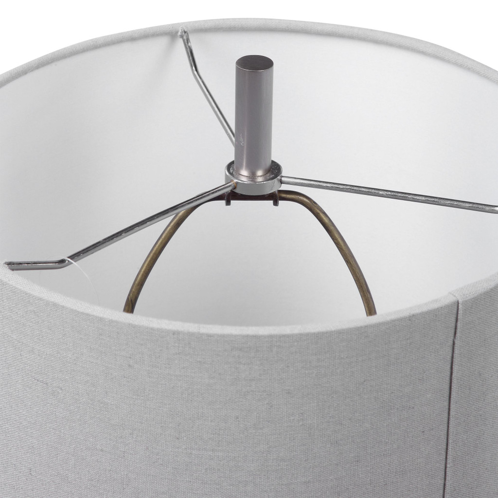 Wave Crest Buffet Lamp shade and finial