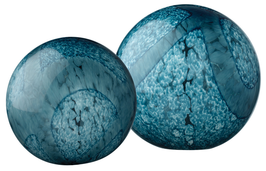 Glass Floats in Indigo Swirl Glass