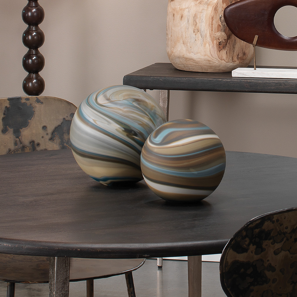 Sand and Shore Glass Float Balls - Set of 2 room view