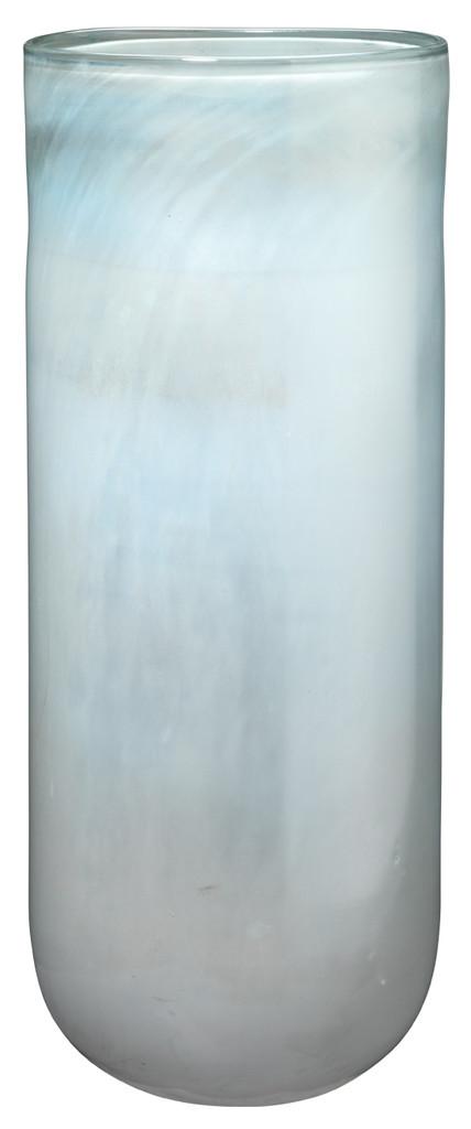 Large Vapor Vase in Metallic Opal Glass