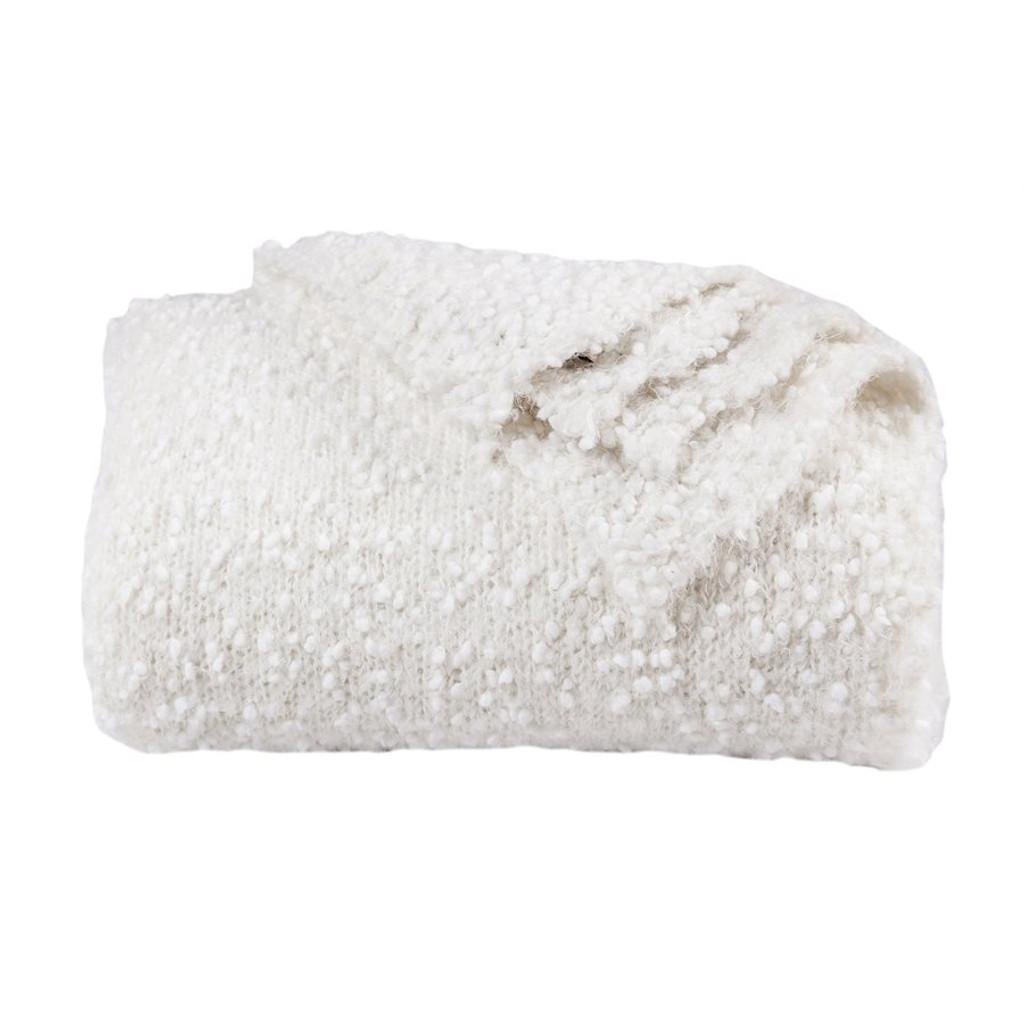 Cream Pebble Beach Knit Throw