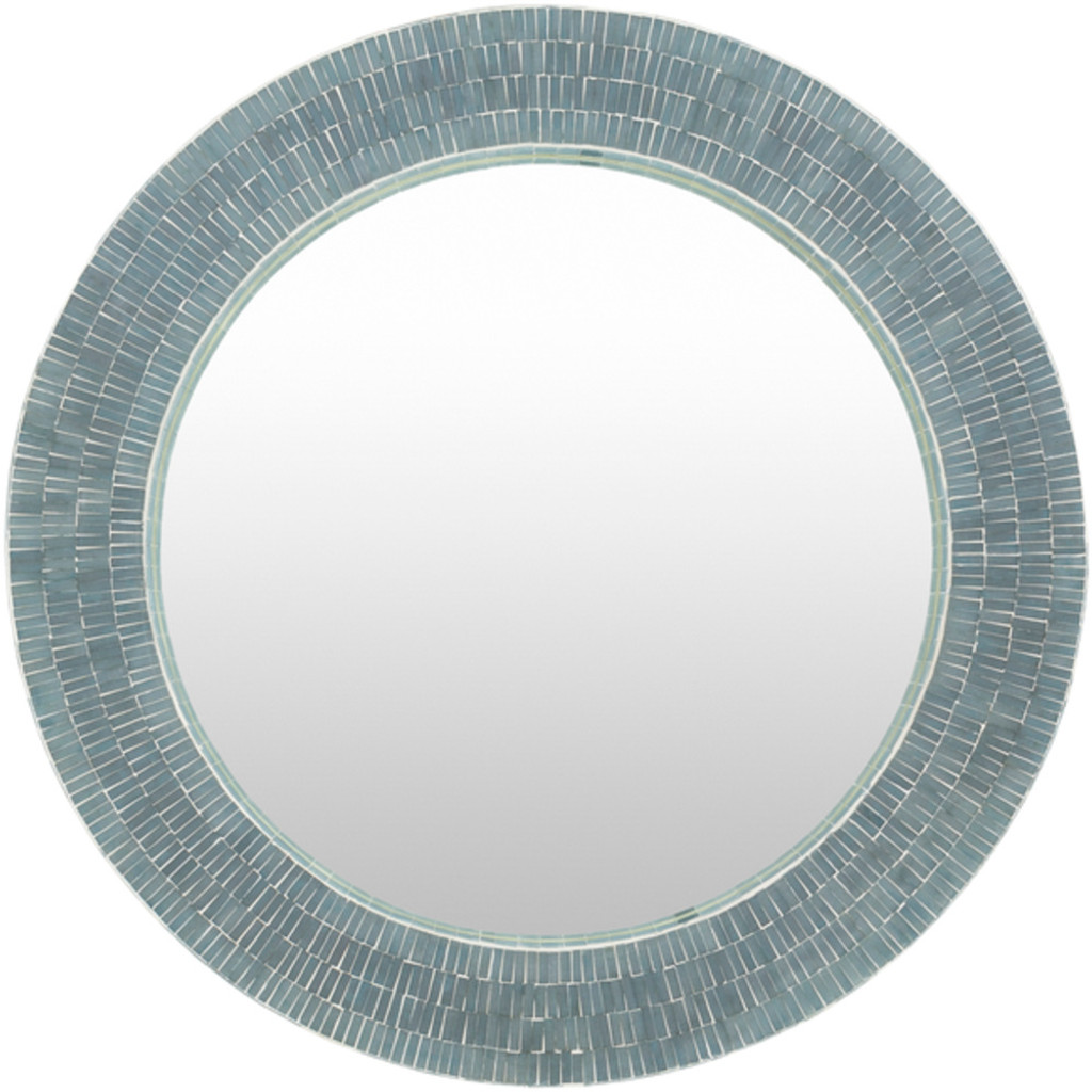 Natalia Mother of Pearl Round Mirror