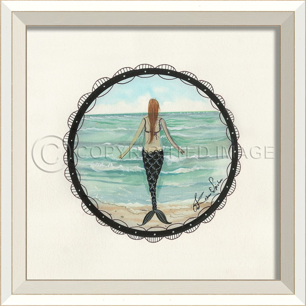 Porthole to the Mermaid Looking Out to Sea