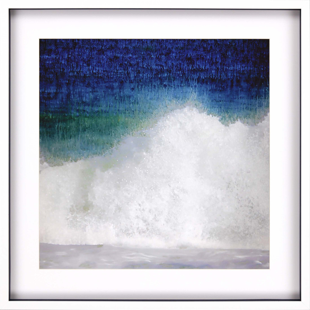 Splash Blue Wave Modern Art