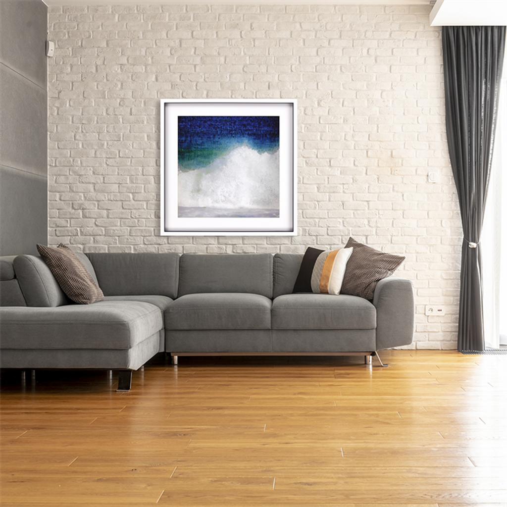 Splash Blue Wave Modern Art room image