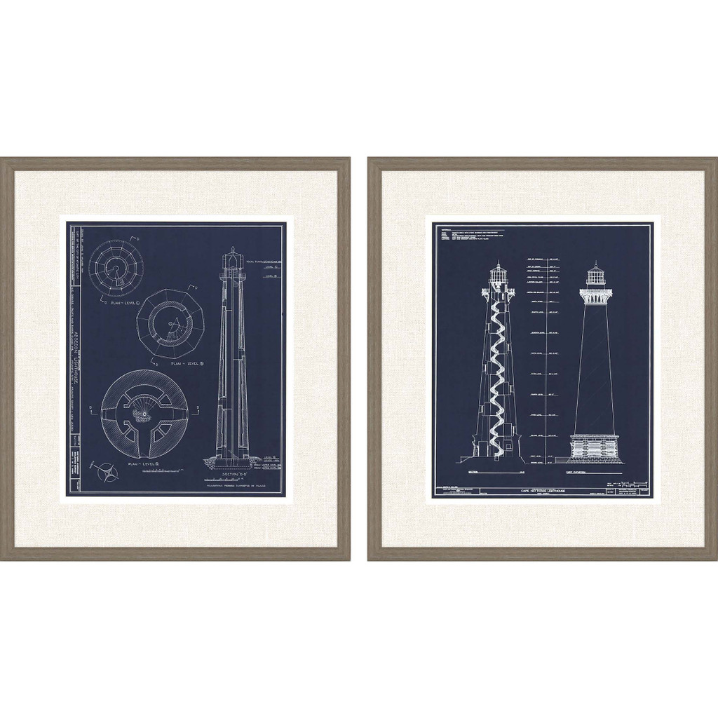 Lighthouse I Set of Two Framed Art