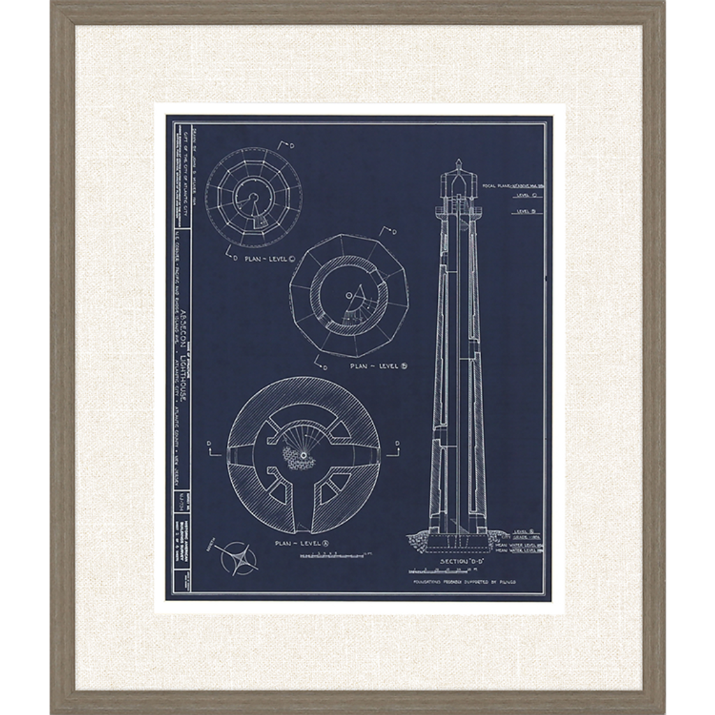 Lighthouse I Set of Two Framed Art_one