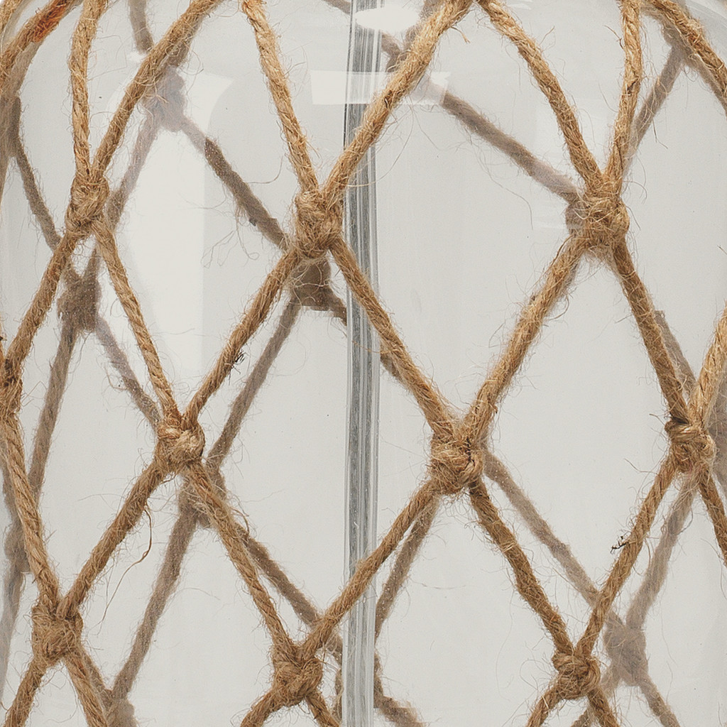 Maritime Rope Net Clear Glass Lamp close up 1