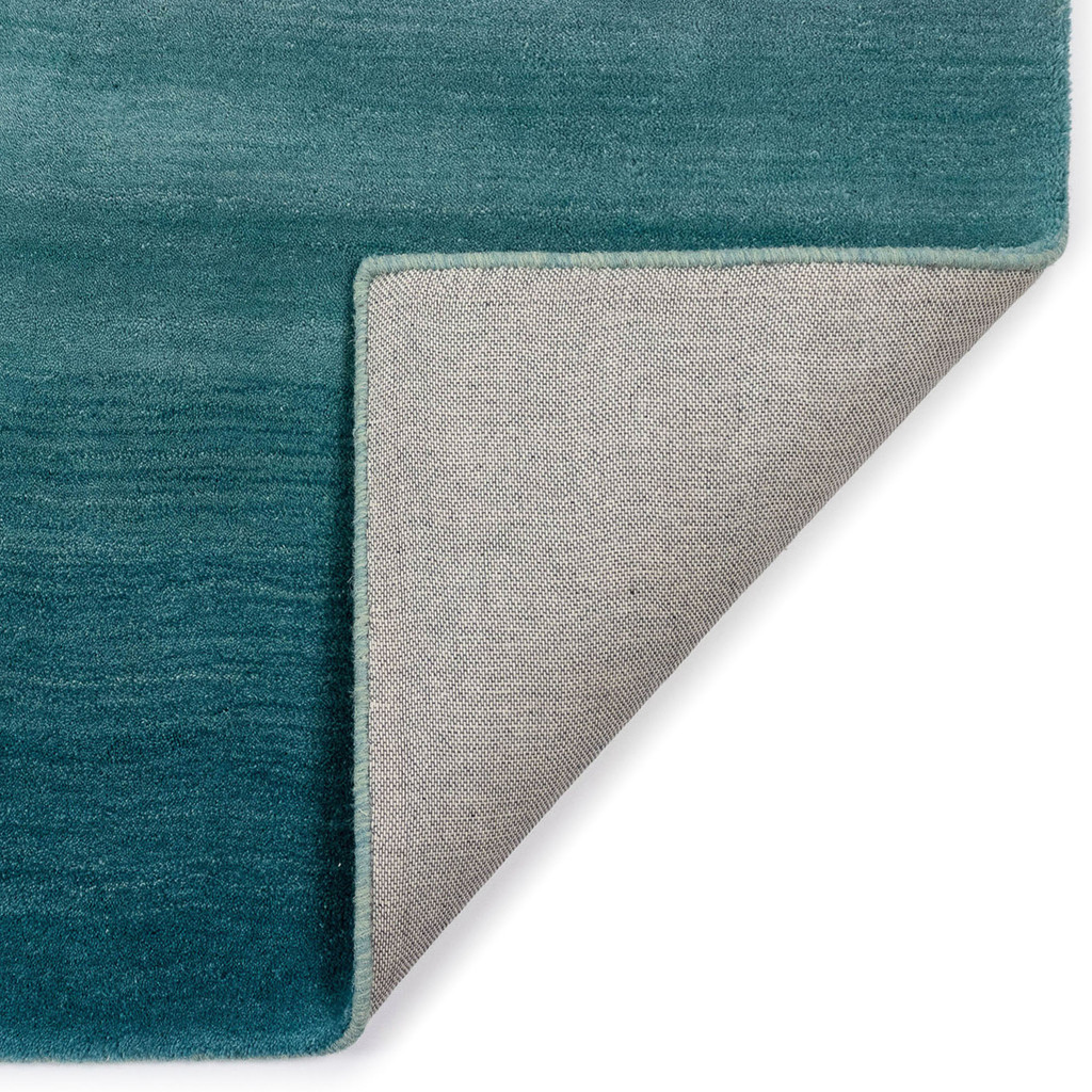 Arca Aqua Plush Wool Rug backing