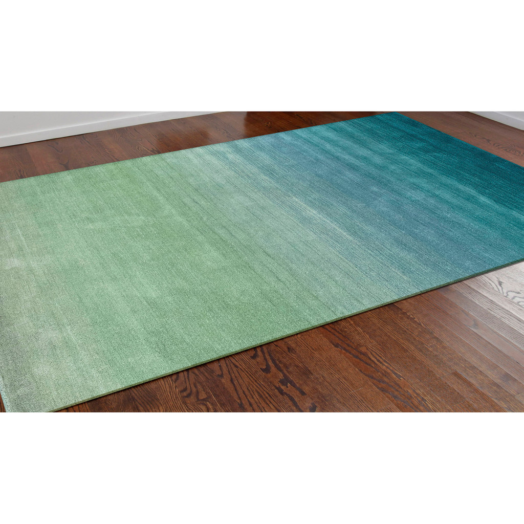 Arca Aqua Plush Wool Rug room view 2