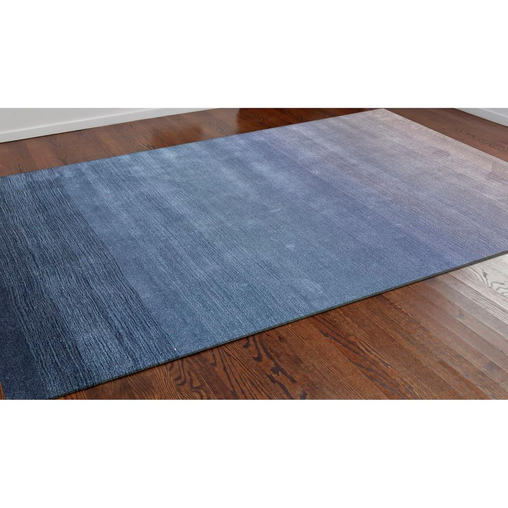 Arca Sea Blues Plush Wool Rug room view 2