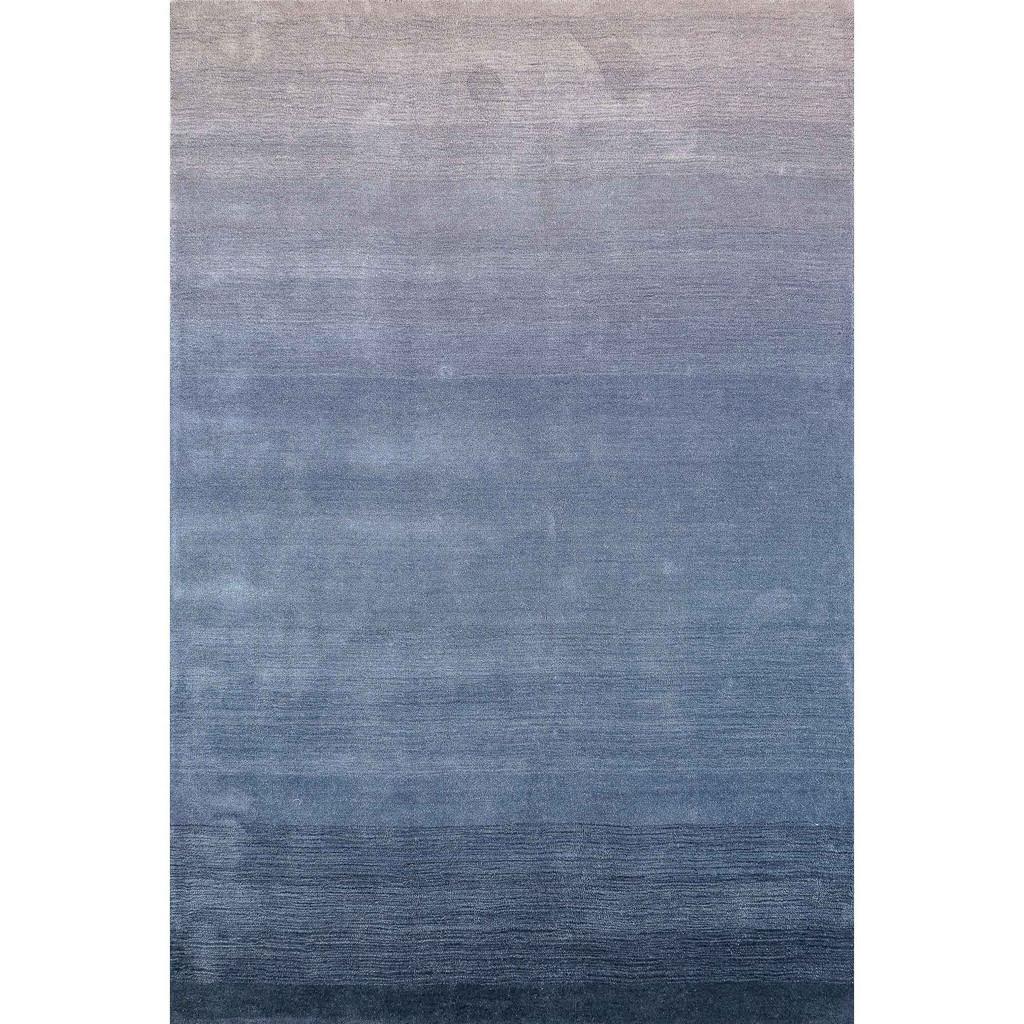 Arca Sea Blues Plush Wool Rug