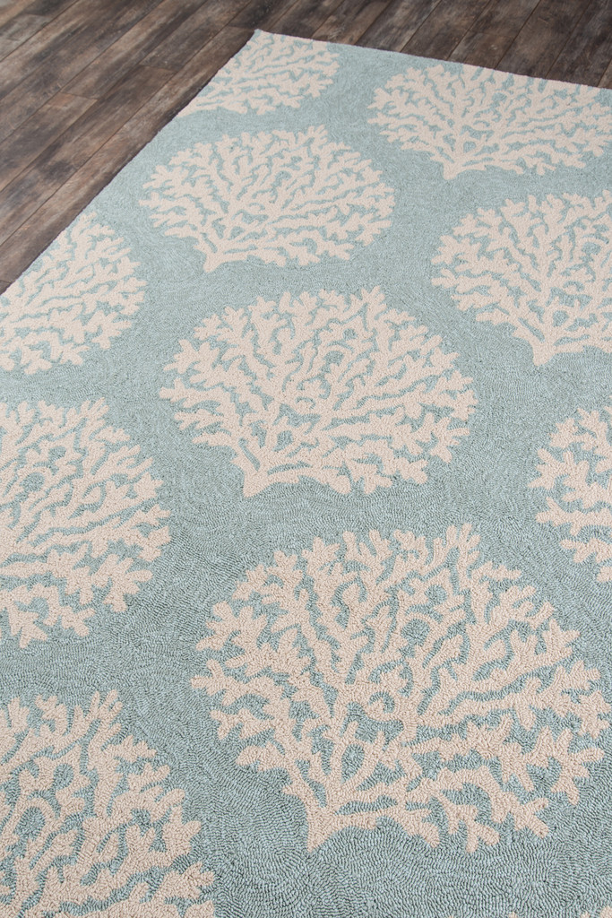 Blue and Ivory Coral Garden Area Rug floor