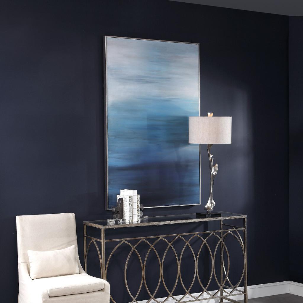 Moonlit Sea Hand Painted Ocean Art angle room