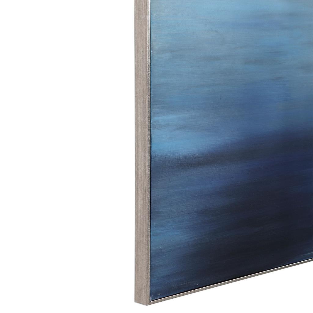 Moonlit Sea Hand Painted Ocean Art close up edge