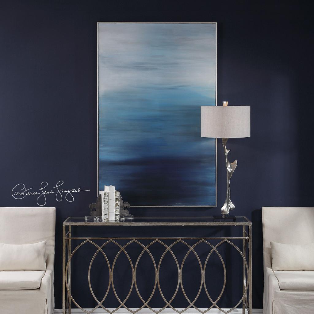 Moonlit Sea Hand Painted Ocean Art