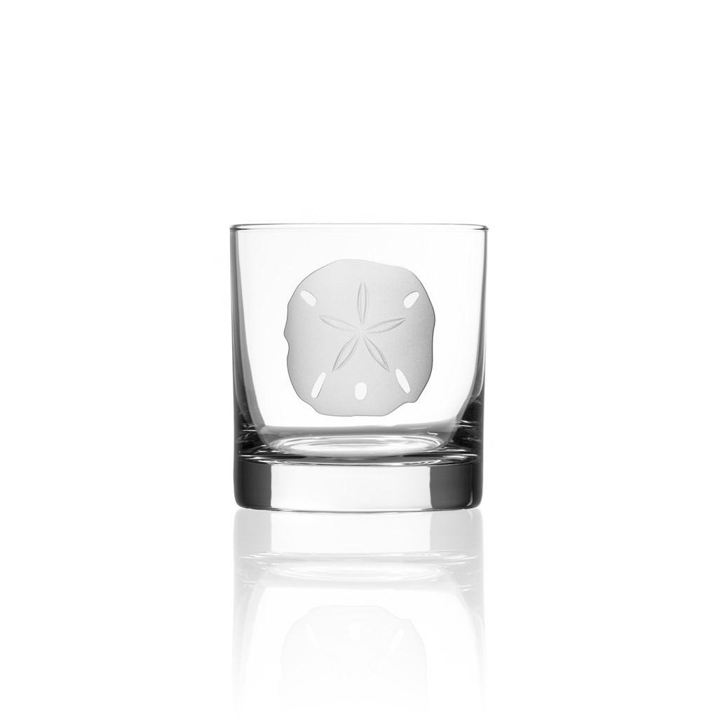 Sand Dollar Rocks Glasses - single image