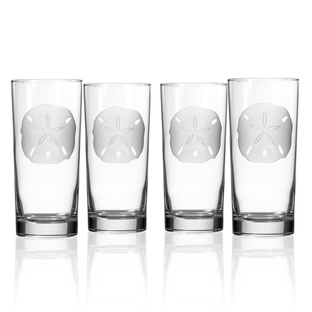 Sand Dollar Cooler Glasses - Set of 4
