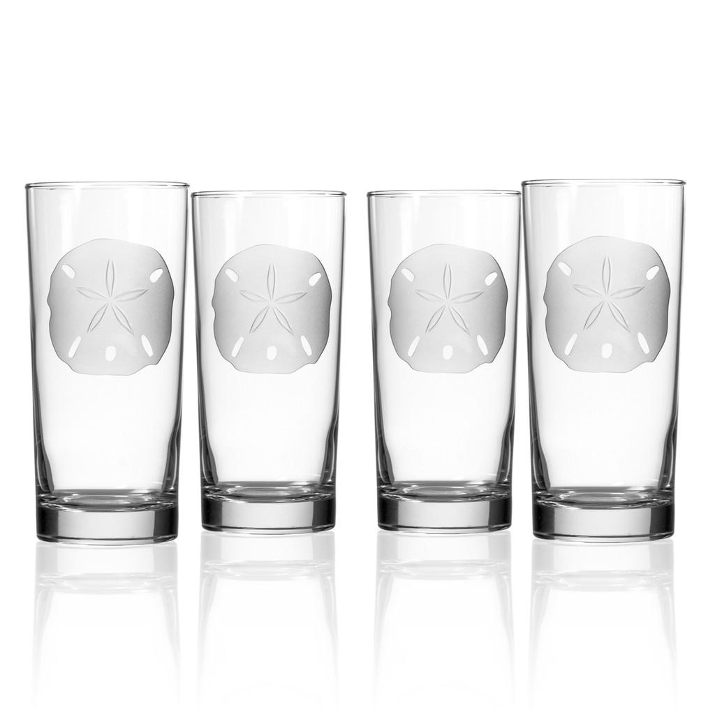 Sand Dollar Cooler Glasses - Set of 4