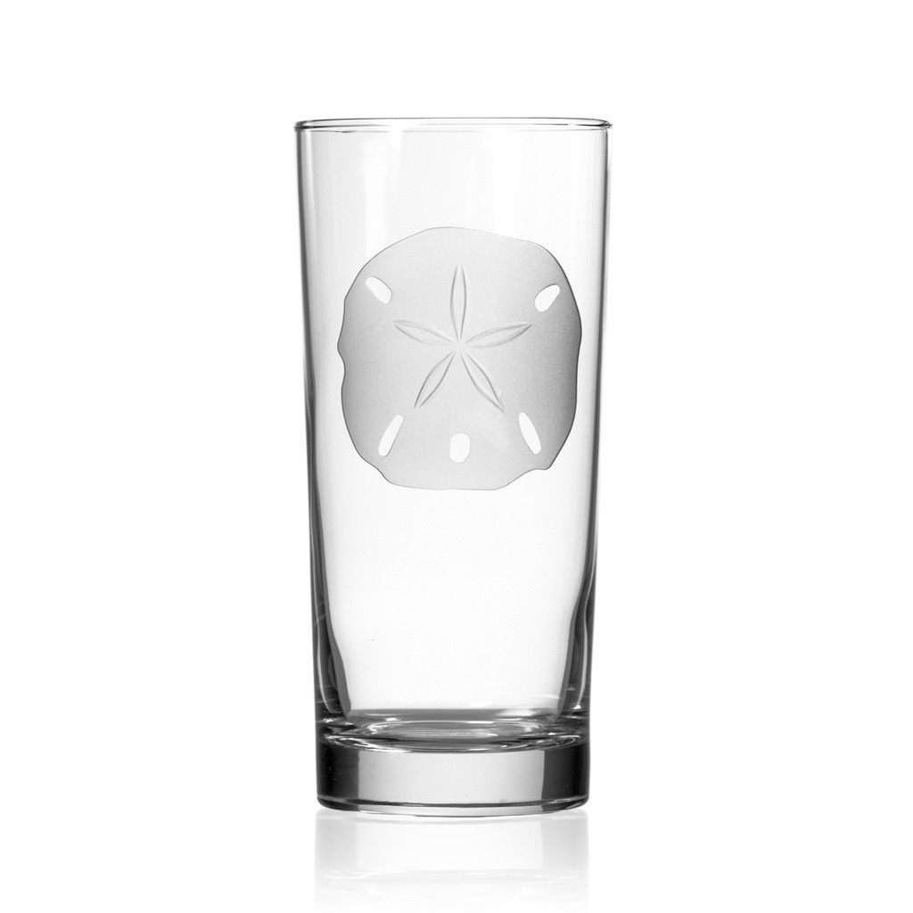 Sand Dollar Cooler Glasses -single glass