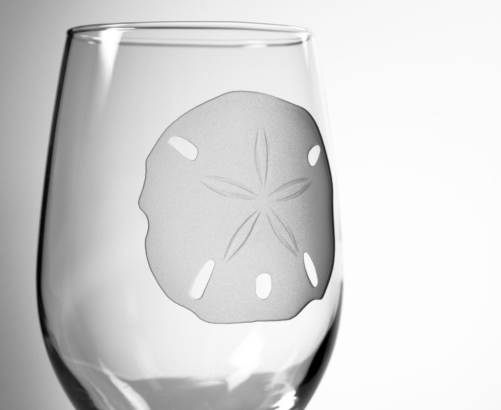 Sand Dollar 12 oz. Wine Glasses - details