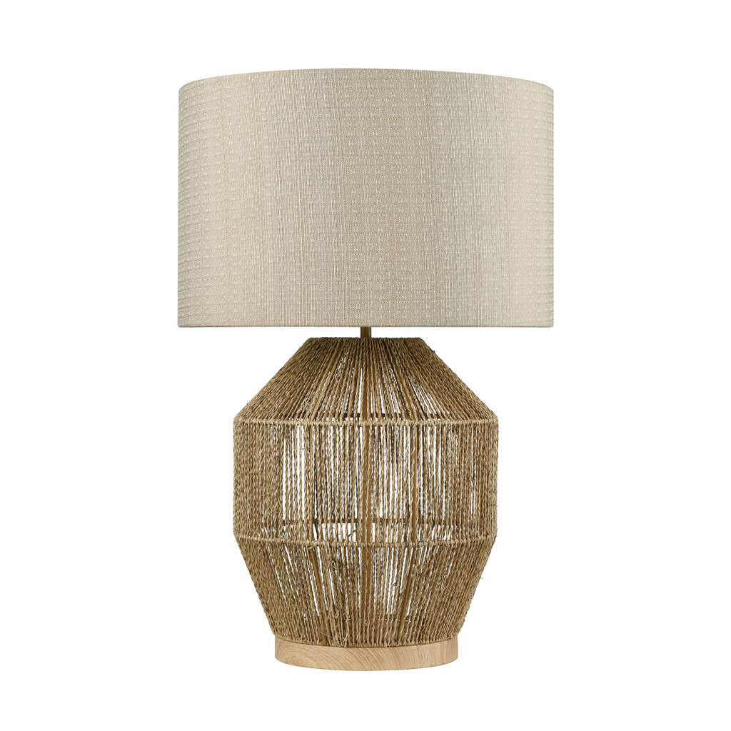 Corsair Table Lamp in Natural Finish light off