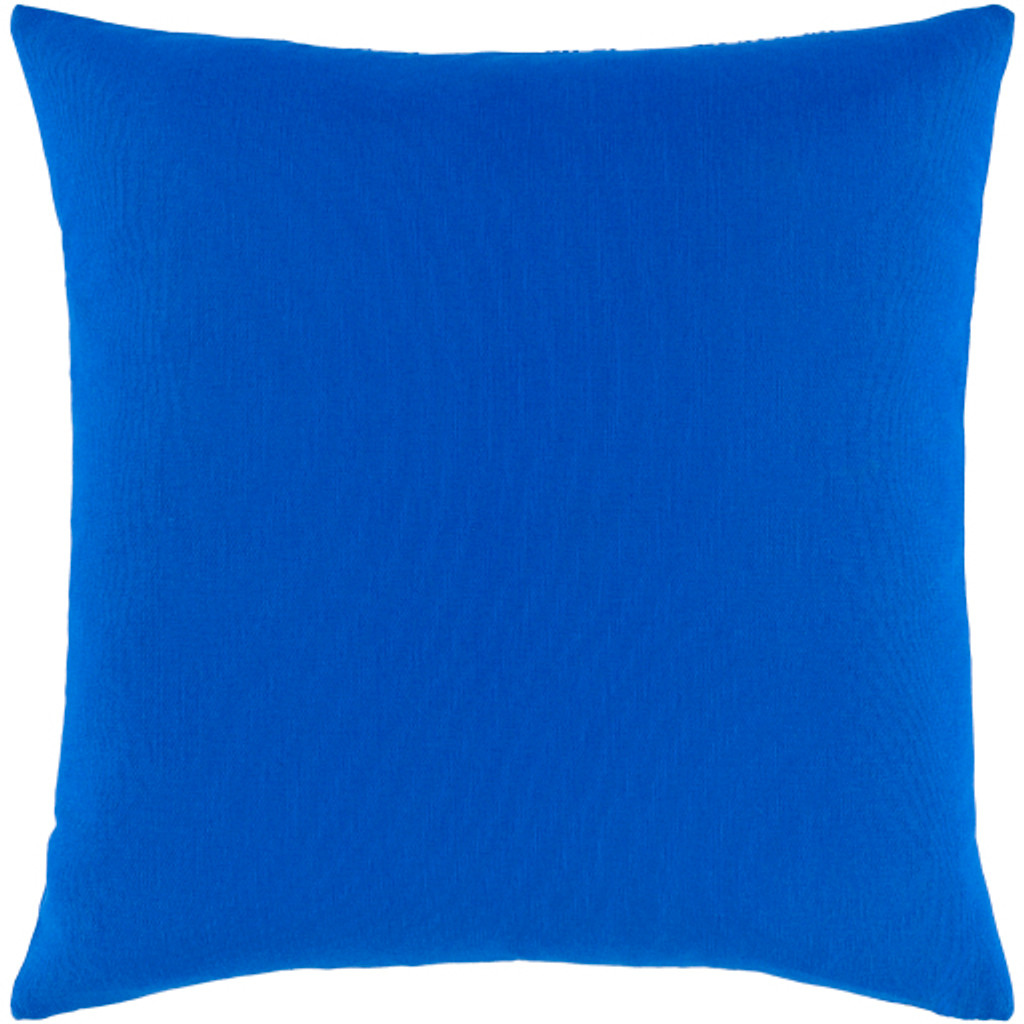 Royal Blue Sea Life Pillow back