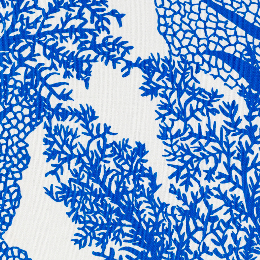 Royal Blue Sea Life Pillow close up images
