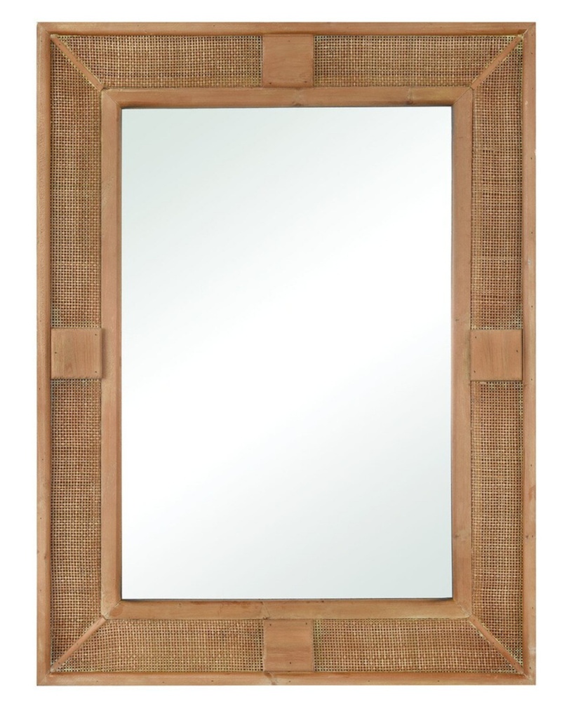 Rattan Cabana Rectangle Mirror view 1