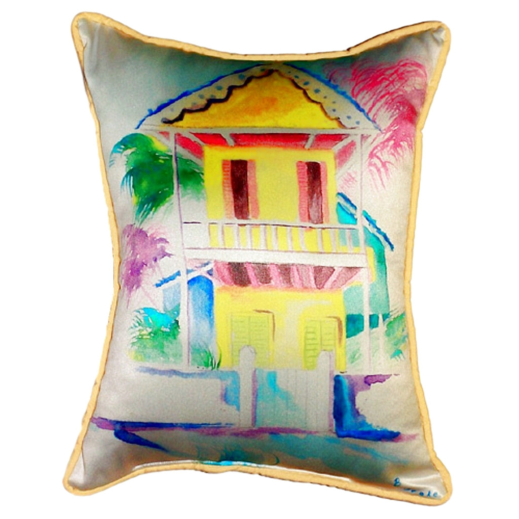 Key West Palm Yellow Hut Pillow