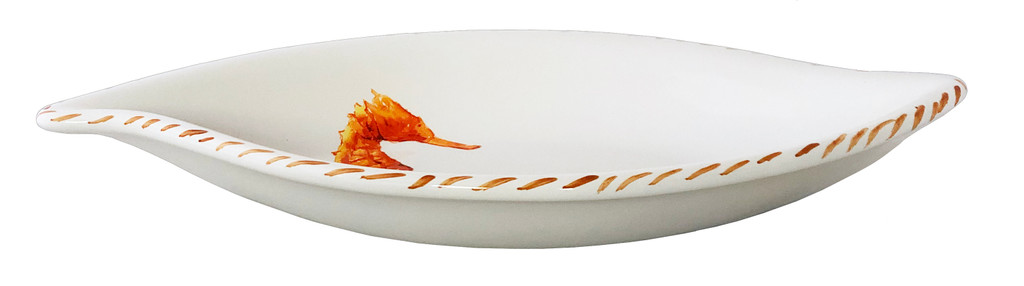 Seahorse Leaf Shaped Serving Bowl side view