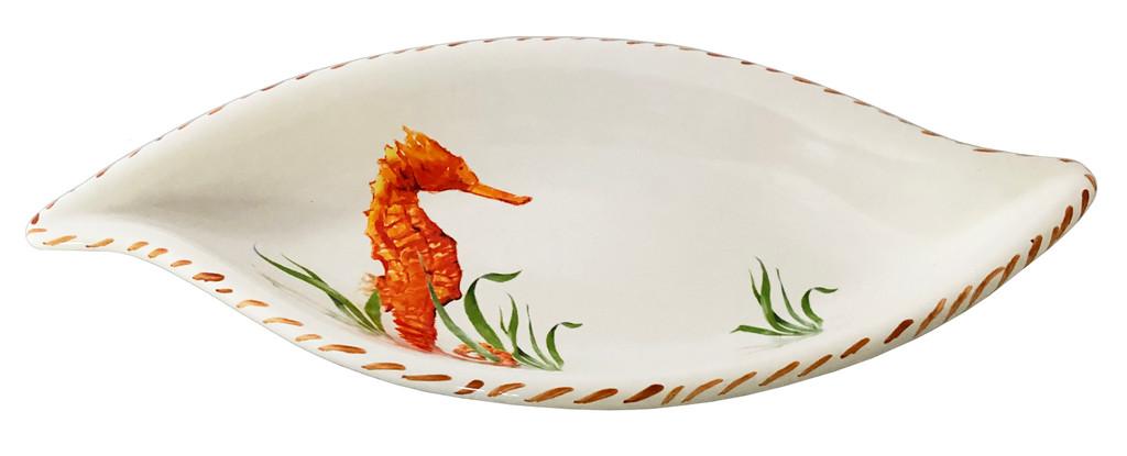 Seahorse Leaf Shaped Serving Bowl